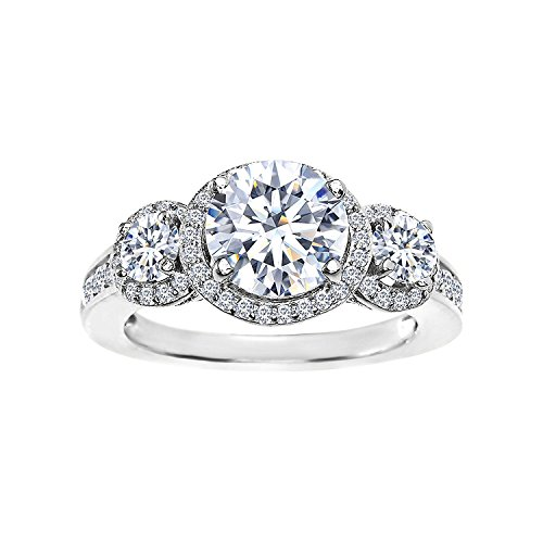 three stone engagement ring - 8