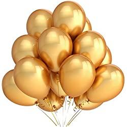 Home Kitty 100 Pack 12 Inches Gold Color Latex Party Balloons – Party Decoration and Accessories