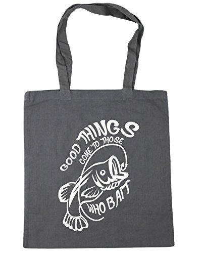 HippoWarehouse - Bolsa de playa de Algodón  Mujer gris grafito
