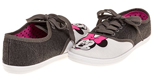Disney Womens Minnie Mouse Jersey-Canvas Lace-Up Sneaker Junior Size 9