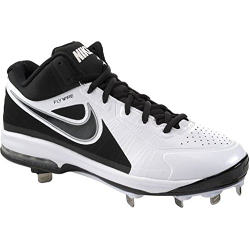 Nike Mens Air Max Mvp Elite 3/4 Bitte Da Baseball In Metallo, Bianco / Nero (bianco / Nero, 14 D (m) Us)
