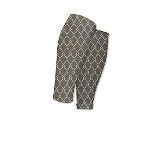 (Texture stripe gray Sport Sleeve For Men/Women Socks for Running)