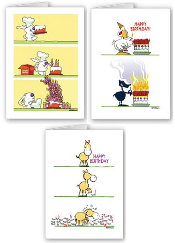 Amazon Funny Birthday Card Assorted Pack 18 Cards And