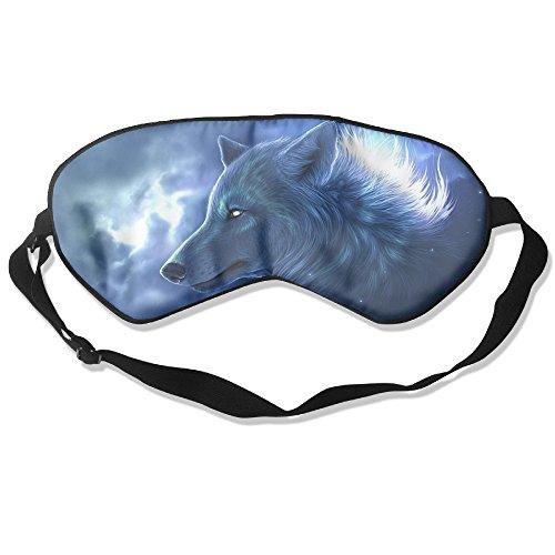 Burlingames Cool Animal Wolf Unisex Mulberry Silk Fashion Eye Shade Eyepatch Eye Masks Sleeping Shade Sleep Masks