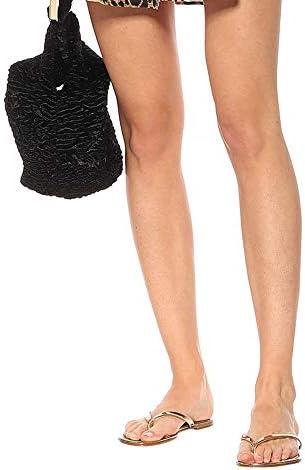 MYYINGELE Sandales Femmes Plates, Chaussures Été Tongs à Talons Plats Claquettes Nu Pieds Semelle Compensée Confortable Bout Ouvert pour Filles Plage, Brown, 34EU