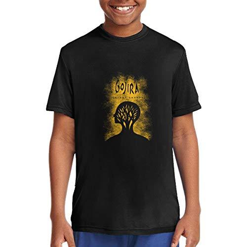 OVDUBoYSVY Unisex Gojira L'Enfant Sauvage Boys&Girls Cotton T Shirt Black