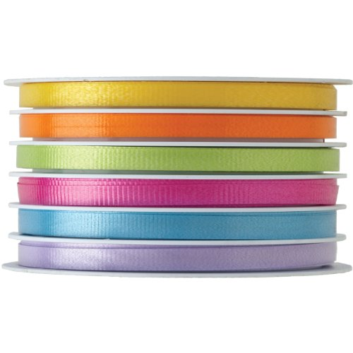 - Jillson Roberts 6-Spool Count Multi Channel Curling Ribbon Available in 8 Color Combinations, Caribbean Mix