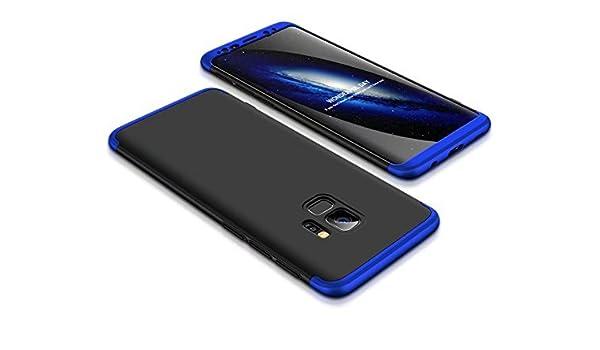 PC Pl/¨/¢stico Carcasa para Computadora Ultra Delgada Case Anti-ara?azos Suave y Flexible Rigida Case para Samsung Galaxy S9 Plus-Azul Negro Ukayfe Funda Galaxy S9 Plus, 360 Grados Protecci/¨/®n