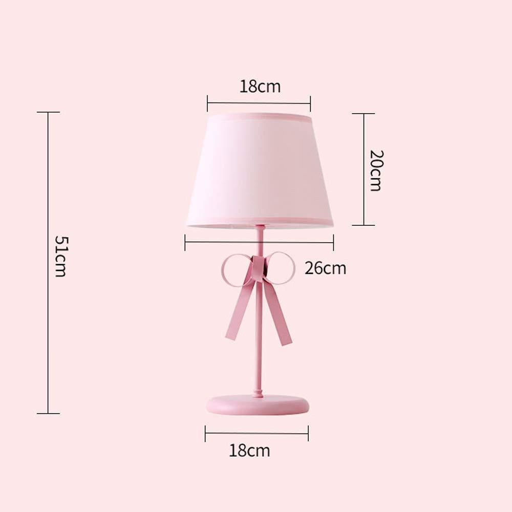 Raelf Rosa Rosa Rosa kreative Einfachheit Prinzessin Wind Tischlampe romantisch Rosa Kinderzimmer Mädchen Schlafzimmer Tischlampe tragbare Universal-Leuchte keine stroboskopische einstellbare LED-Tischlampe B07PJXDF2G | Qualität Produkt  be625d