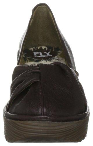 Fly London Yard - Zapatos de vestir de cuero para mujer Marrón