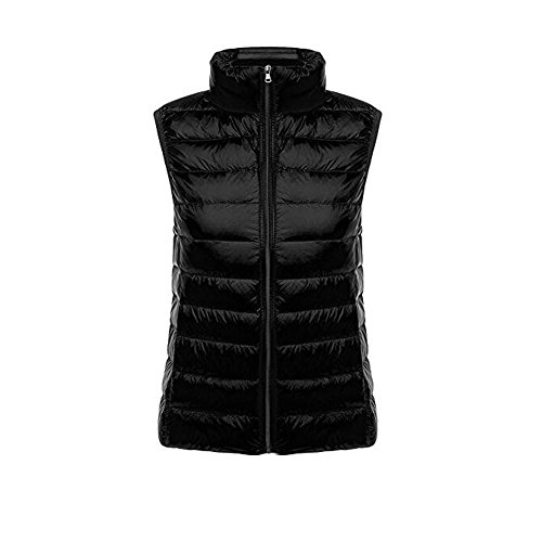 Negro de Mujer Windproof Puffer Ake Ultra Light Chaquetas Down Coat Pluma Chaleco xHqIPwF