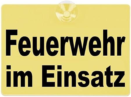 Paco Deutschland E K Warnschild Feuerwehr Im Einsatz 20x15cm Gelb Auto