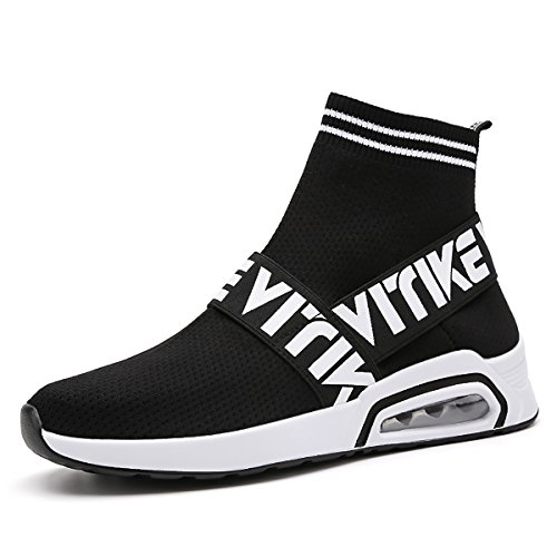 Littleplum Fashion Flyknit Sneakers Running Shoes Breathable Outdoor Casual Sports Shoes Ultra Boost High-Top Athletic Socks Shoes Walking Shoes