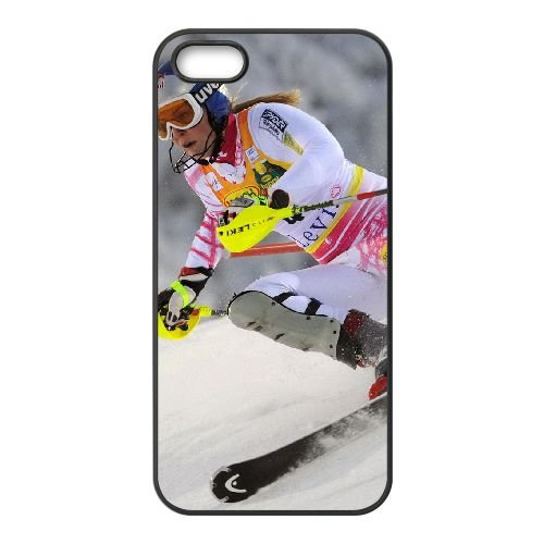 Fast Skiing coque iPhone 4 4S cellulaire cas coque de téléphone cas téléphone cellulaire noir couvercle EEEXLKNBC25017