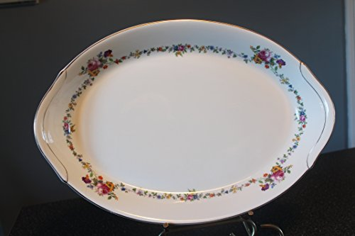 Antique Warwick West Virginia USA #AB9474 Oval Serving Platter 15