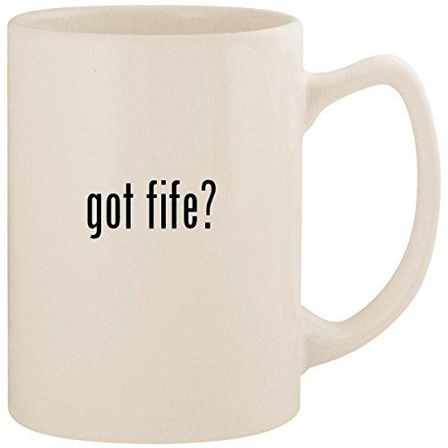 got fife? - White 14oz Ceramic Statesman Coffee Mug Cup