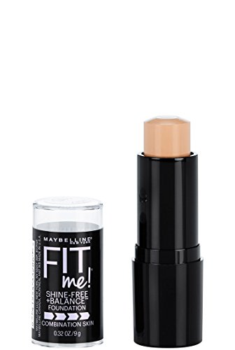 Creme Foundation - Maybelline Fit Me Shine-Free + Balance Stick Foundation, Classic Ivory, 0.32 oz.