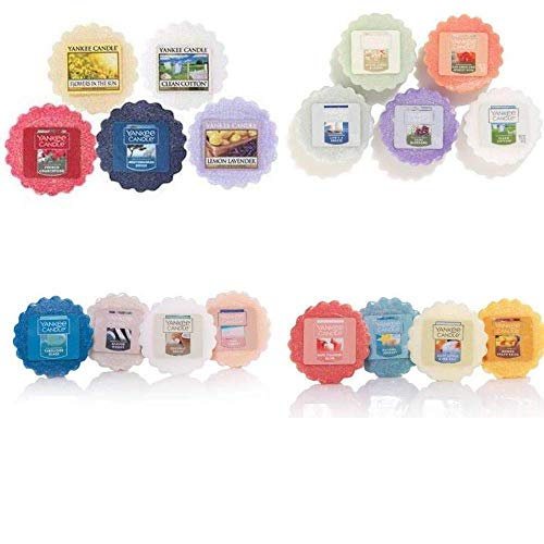 Yankee Candle Tarts Wax Melts - Spring & Summer Collection Sampler - Box of twelve (12) individually wrapped scents with no duplicates. Random assortment. (Yankee Candle Tarts Set)