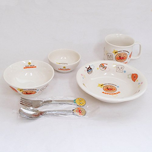 Baby tableware set Anpanman tableware 6 piece set made ??in Japan Gift Set by [ Mino ] Shikisai - pottery ONLINE-