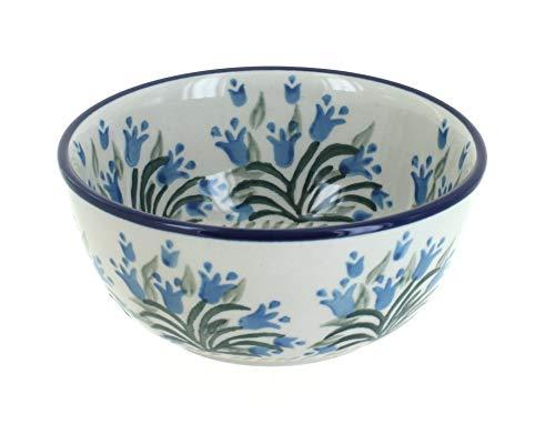 - Blue Rose Polish Pottery Tulip Bouquet Dessert Bowl