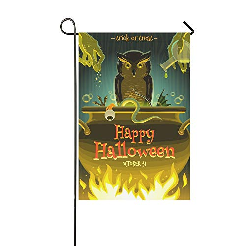WBSNDB Home Decorative Outdoor Double Sided Halloween Witch Cooks Poison Garden Flag,House Yard Flag,Garden Yard Decorations,Seasonal Welcome Outdoor Flag 12 X 18 Inch Spring Summer Gift for $<!--$16.00-->