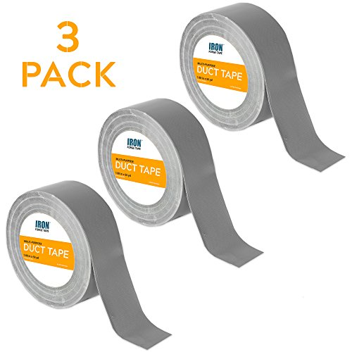 Duct Tape Roll 3 Pack for HVAC, Air Ducts & More - 1.88 Inch x 55 Yards by Iron Forge Tools (Image #7)