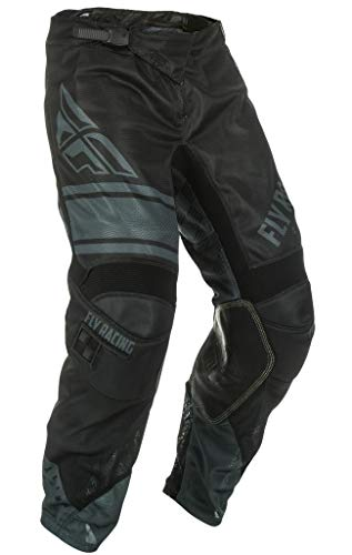 Fly Racing Men's Kinetic Mesh Era Pants(Black/Grey, Size 26),1 Pack