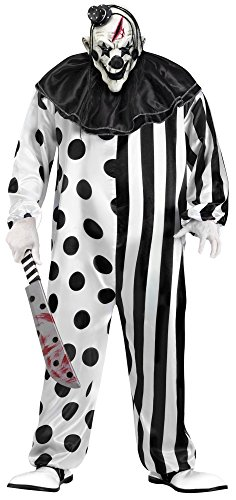 Killer Clown Costumes For Men (Killer Clown Plus Size Costume)