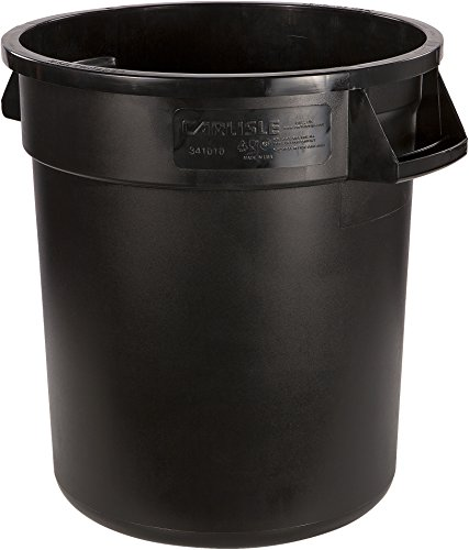 - Carlisle 34101003 Bronco Round Waste Container Only, 10 Gallon, Black