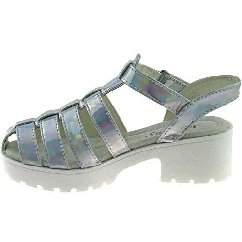 Lelli Kelly LK7477 (AH01) Silver Vivian Closed Toe Sandals-36 (UK 3)