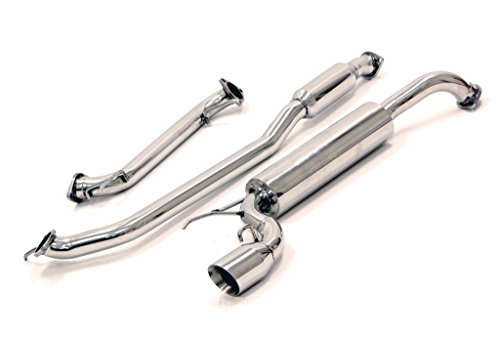 Yonaka Compatible with Honda Fit 2009-2013 Stainless Steel Performance Catback Exhaust (all models)