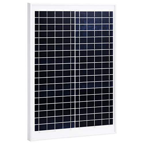 Festnight Panel Solar Policristalino Aluminio y Vidrio de Seguridad Placas Solares Panel Solar Policristalina 20 W
