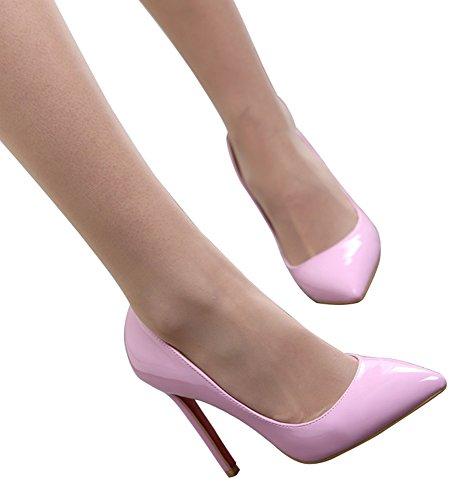 Guoar - Cerrado Mujer - B-Pink Lackleder