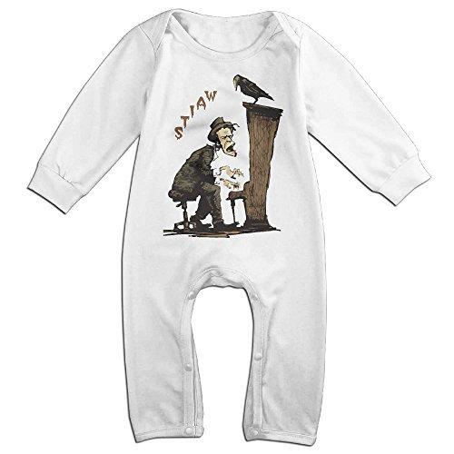 White Sailor Dog Shirt (Tom Waits Piano Baby Onesie Bodysuit Infant Romper White 12 Months)
