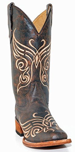 Corral Women's L5058 Butterfly Embroidery Brown Square To...