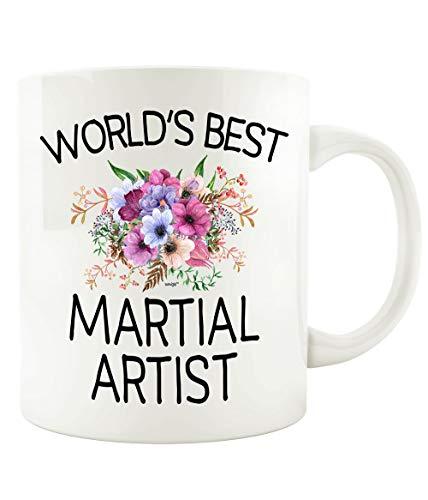 Martial Artist Coffee Mug World's Best Funny Gift Flowers Tea Cup - Christmas Birthday Gag - Women Men 11 oz or Large 15 oz Whizk M3B0259