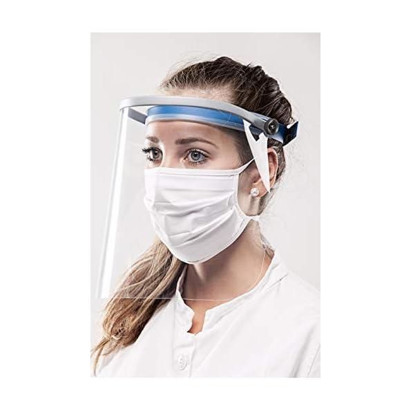 REHAU-Face-Shield-Gesichtsschutz-Plexiglas-Spuckschutz-Augenschutz-Schutzschild-mit-Klappvisier-leicht-bequem-sicher-1-Stck