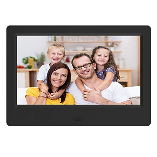 HAHAP Advanced Digital Picture Photo Frame - 720P and Partial 1080P HD IPS Widescreen Eletronic Picture Frame Advertising Player with Calendar/Clock/Remote Control 7 inch Black