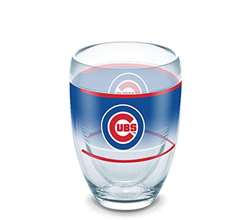 Chicago Cubs 9oz Stemless Wine (Plastic) Glass by Ternvis - Original Wrap - MLB (Chicago Wine Glass)