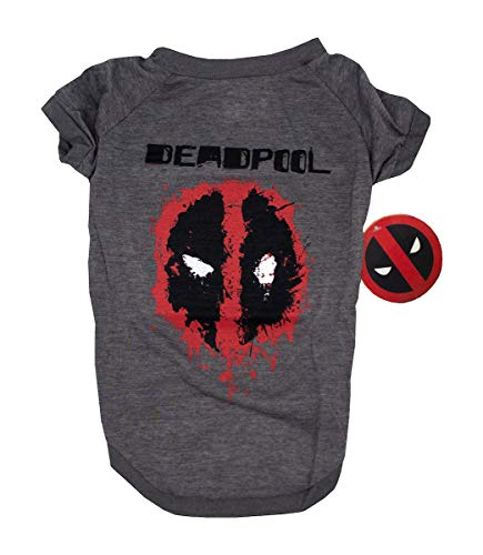 Deadpool Tee For Dogs, Small | Marvel Comics Deadpool Logo T-Shirt for Small Dogs
