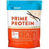 Vanilla Beef Paleo Protein Powder: Keto Collagen Low Carb Ketogenic Diet Supplement Vital for Caveman & Carnivore Nutrition of Ancient Source. Best as Gelatin Muscle Meat Proteins Drink. Equip Foods