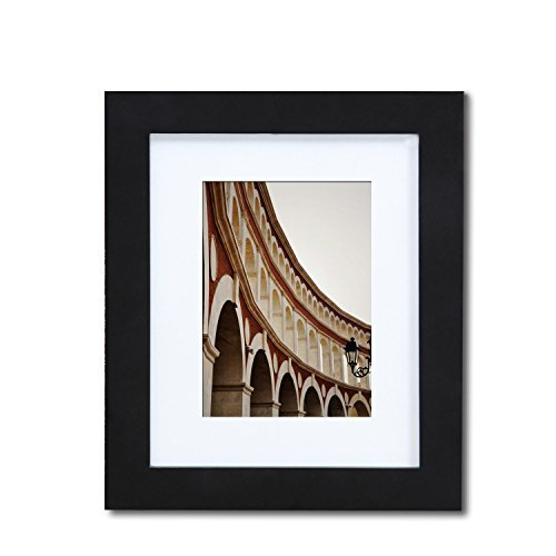 Adeco PF0399 Decorative Black Wood Picture Photo Frame with