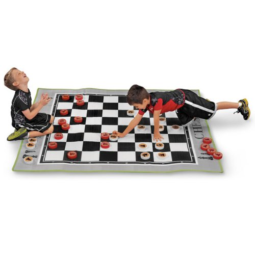 MAC-T PE08645 Giant Floor Game – Chess, Mat Size: 70″ x 63″ x 3/16″