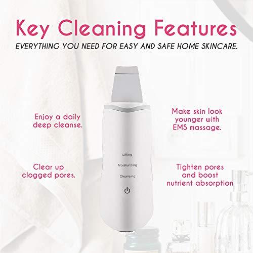 Meeteasy Original Electric Skin Scrubber – Blackhead Remover – Comedone Extractor – Pore Cleaner Removal Kit – Facial…