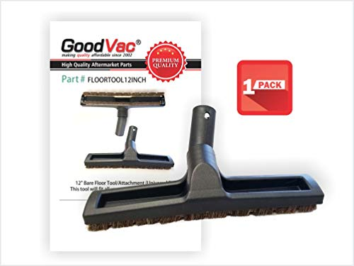 """GOODVAC Deluxe 12"""" Hardwood Floor Tool with Natural Horsehair Brush Bristles use with Rainbow, Kirby, Miele and More."""