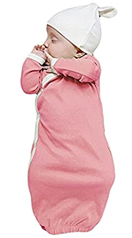 Baby Boys Girls Long Sleeve Warm Sleeper Gowns Kids Toddler Sleep Bag Sack size 0-3 Months/70 - Girls Pink Sleeper
