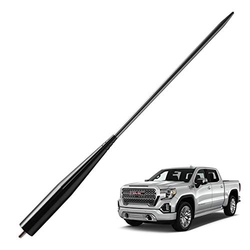 JAPower Replacement Antenna Compatible with GMC Sierra/Denali Trucks 2007-Current | 13 inches - Black Titanium