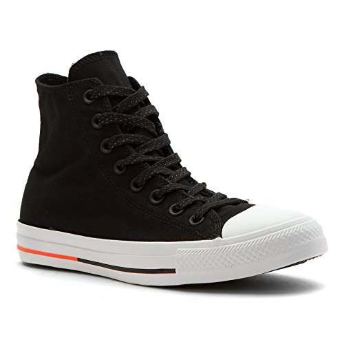 Converse Chuck Taylor All Star - Zapatillas de tela, unisex negro, blanco, (BLACK WHITE LAVA)