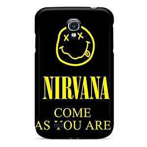Perfect Hard Phone Covers For Samsung Galaxy S4 With Custom High Resolution Nirvana Band Skin MarieFrancePitre
