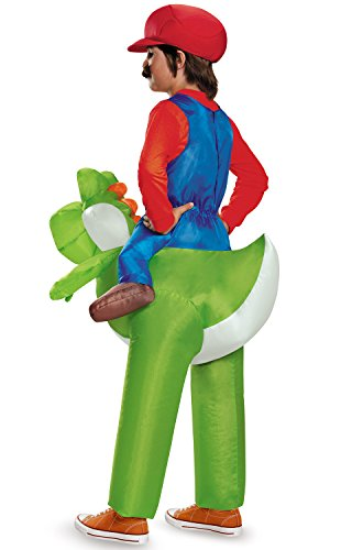 Disguise Mario Riding Yoshi Inflatable Child (Boys Yoshi Costume)